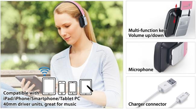 Tương thích cho tất cả các thiết bị hiện nay, hỗ trợ các thiết bị từ bluetooth 2.1 trở lên