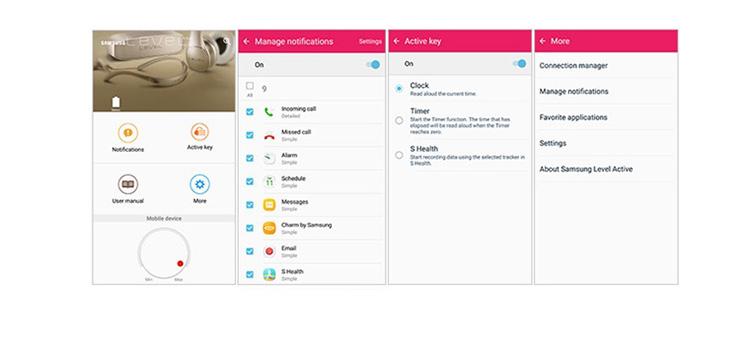 Người dùng có thể tùy chọn các thông báo khác nhau với tai nghe LEVEL Active