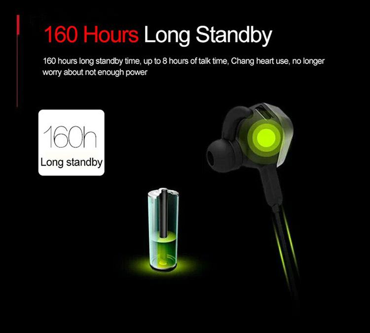 Pin được thiết kế ngay nằm bên trong cổ tai.