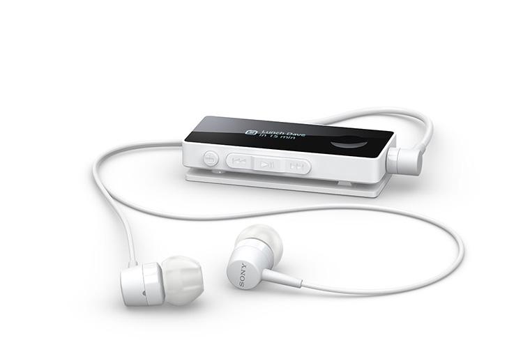 Tai nghe Bluetooth Sony SBH50 chính hãng thiết kế màu trắng.