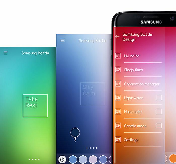 Loa bluetooth Samsung Bottle đổi màu