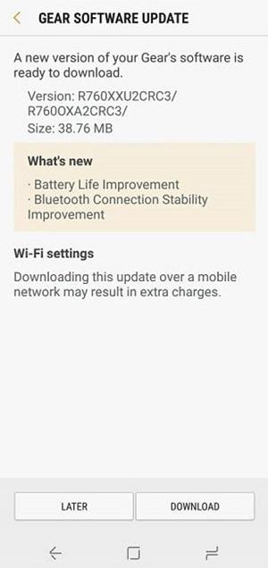 HOT!!!] Samsung Gear S3 nhận bản cập nhật mới, tăng tuổi thọ pin
