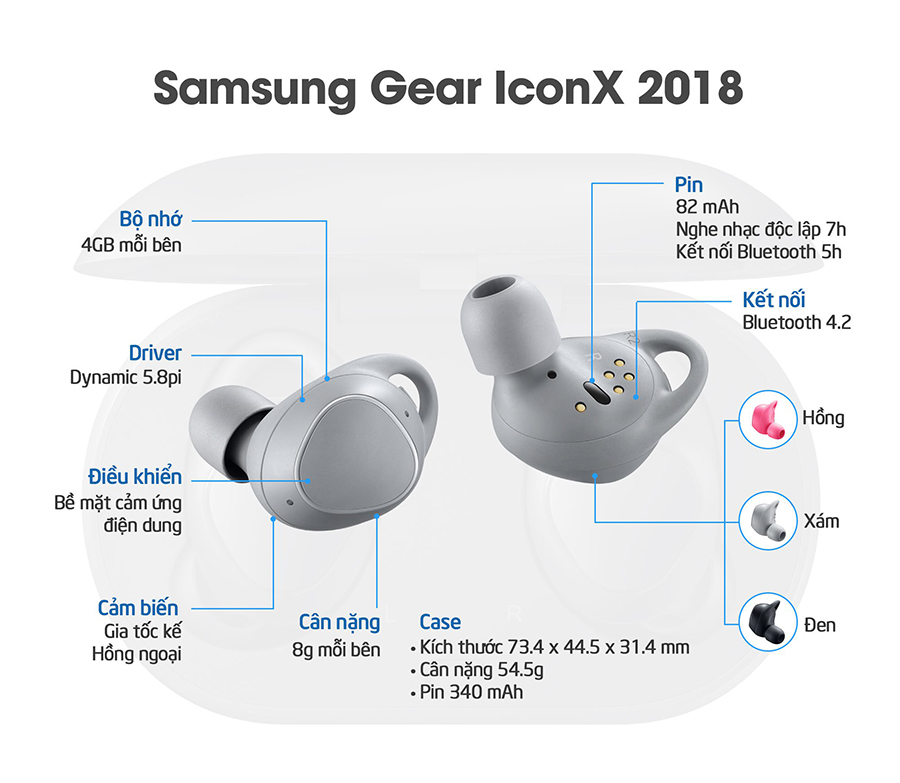 tai nghe bluetooth Samsung Gear IconX 2018